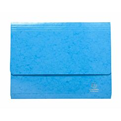Exacompta Iderama Document Wallet Foolscap Pack of 25 265gsm Light Blue