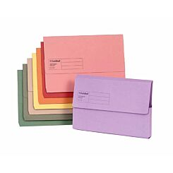 Exacompta Guildhall Document Wallet Foolscap Pack of 50 285gsm Assorted
