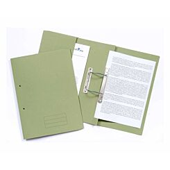Exacompta Guildhall Pocket Spiral Files Foolscap Pack of 25 285gsm Green