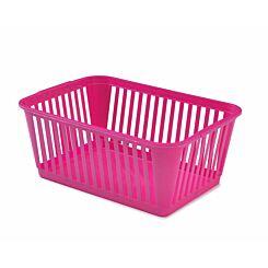 Whitefurze Handy Basket 37cm Pack of 9 Pink