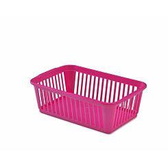 Whitefurze Handy Basket 25cm Pack of 10 Pink