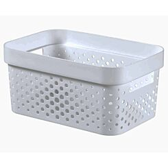 Curver Infinity Storage Basket 4.5 Litre White