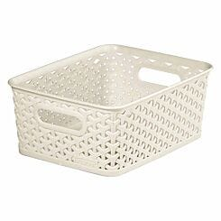 Curver My Style Storage Basket 8 Litres Cream