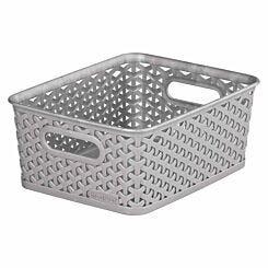 Curver My Style Storage Basket 8 Litres Grey