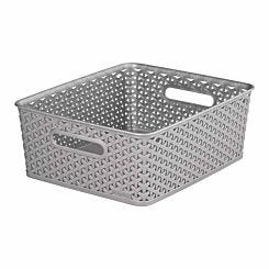 Curver My Style Storage Basket Medium 13 Litres Grey
