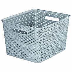 Curver My Style Storage Basket Large 18 Litres Grey