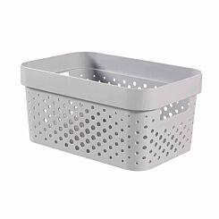 Curver Infinity Basket 4.5L Pack of 5 Light Grey