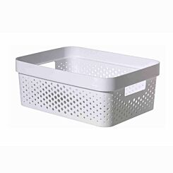Curver Infinity Basket 11L White Pack of 6