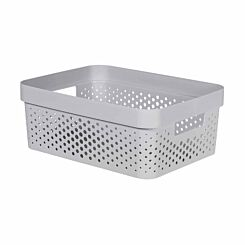 Curver Infinity Basket 11L White Pack of 6 Light Grey