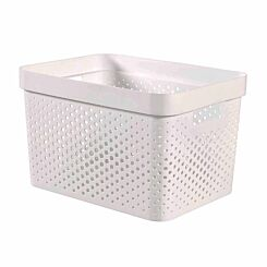 Curver Infinity Basket 17L White Pack of 5