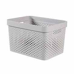 Curver Infinity Basket 17L White Pack of 5 Light Grey