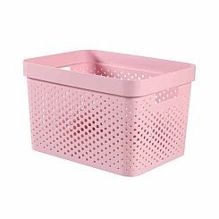 Curver Infinity Basket 17L White Pack of 5 Light Pink