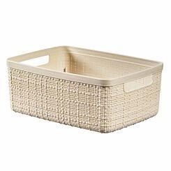 Curver Jute Storage Basket 5 Litre Cream