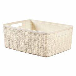 Curver Jute Storage Basket 12 Litre Cream
