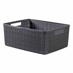 Curver Jute Storage Basket 12 Litre Grey