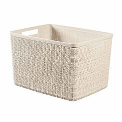 Curver Jute Storage Basket 20 Litre Cream