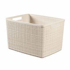 Curver Jute Storage Basket 20 Litre