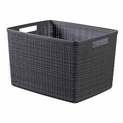 Curver Jute Storage Basket 20 Litre Grey