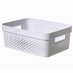 Curver Infinity Recycled Storage Basket 11 Litre White