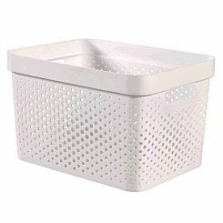 Curver Infinity Recycled Storage Basket 17 Litre White