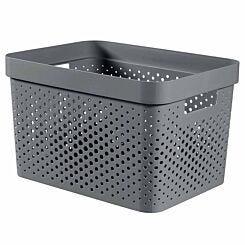 Curver Infinity Recycled Storage Basket 17 Litre Dark Grey