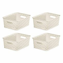 Curver My Style Storage Basket 13 Litres Pack of 4