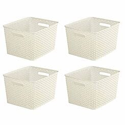 Curver My Style Storage Basket 18 Litres Pack of 4