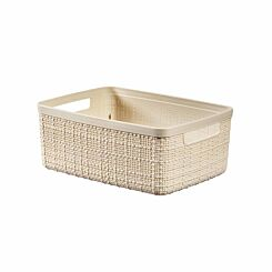 Curver Jute Storage Basket 5 Litres Pack of 6 Cream