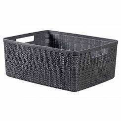Curver Jute Storage Basket 12 Litres Pack of 6 Grey