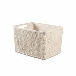 Curver Jute Storage Basket 20 Litres Pack of 6 Cream