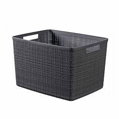 Curver Jute Storage Basket 20 Litres Pack of 6 Grey