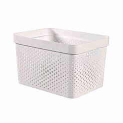 Curver Infinity Recycled Storage Basket 17 Litres Pack of 5 White