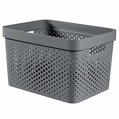 Curver Infinity Recycled Storage Basket 17 Litres Pack of 5 Grey