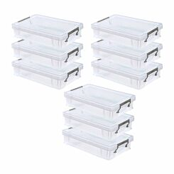 Whitefurze Allstore Plastic Storage Box 5.5 Litre Pack of 9
