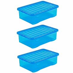 Wham Crystal 32 Litre Pack of 3 Blue