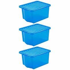 Wham Crystal 35 Litre Pack of 3 Blue