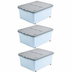 Wham Wheeled Box 30 Litre Pack of 3