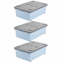 Wham Wheeled Box 32 Litres Pack of 3