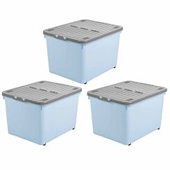 Wham Wheeled Box 44 Litre Pack of 3