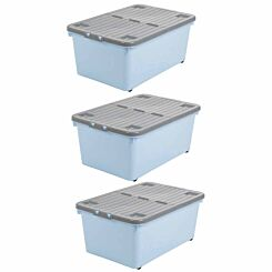 Wham Wheeled Box 45 Litre Pack of 3