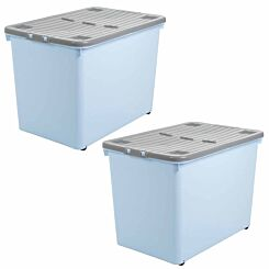 Wham Wheeled Box 80 Litre Pack of 2