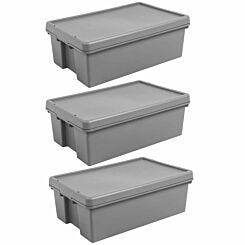 Wham Bam Recycled Storage Boxes 36 Litre Pack of 3