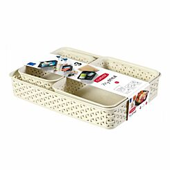 Curver My Style Tray Organiser Pack of 3 White