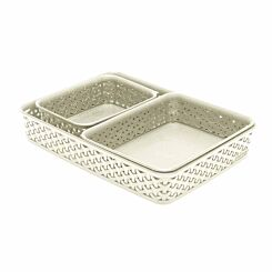 Curver My Style Tray Organiser Pack of 3