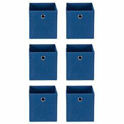 Ryman Fabric Storage Cube Pack of 6 Navy