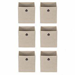 Ryman Fabric Storage Cube Pack of 6 Cream