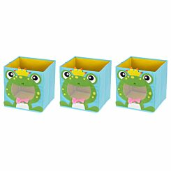 Ryman Childrens Storage Cube Frog Pack of 3