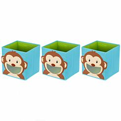 Ryman Childrens Storage Cube Monkey Pack of 3