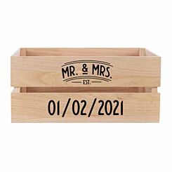 Personalised Wooden Crate MR and MRS Design
