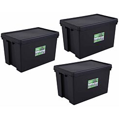 Wham Bam Recycled Storage Boxes 62 Litre Pack of 3